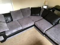 5 seater corner sofa with footstool