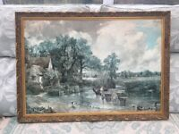 Gold Wood Frame with Print Painting