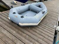 Avon inflatable dinghy with oars and pump