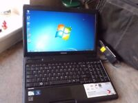 "LAPTOP TOSHIBA,LOOKS NEW-NO USB, 15.6"" screen 2GB RAM,WIFI,DVDRW. WINDOWS 7/OFFICE 2010,CASE,CHARGER"