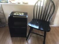 Upcycled chair and side shelf in a star wars theme