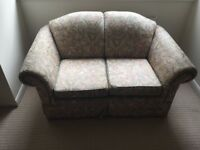 Sofa - two seats, floral cover