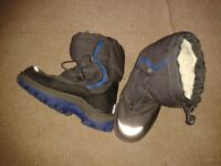 boys snow boots size 2