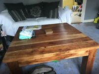 African Solid Oak Coffee Table