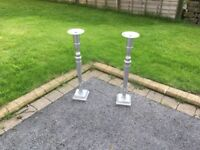 Candlesticks holders, 72cm high and in good condition