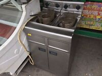 CATERING COMMERCIAL TWIN TANK FRYER FAST FOOD RESTAURANT TAKE AWAY KITCHEN CAFE KEBAB CHICKEN SHOP