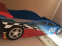 Racing car toddler bed