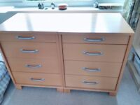 2 x Habitat good quality, solid, beech chest of drawers