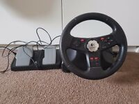 Logitech steering wheel and pedals pc