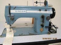 Singer 20u zig zag industrial sewing machine. Professionally serviced. Stand and motor.