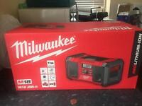 Milwaukee site radio/stereo (not dewalt) brand new sealed