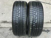 2 part worn tyres 225/50/17 YOKOHAMA W DRIVE