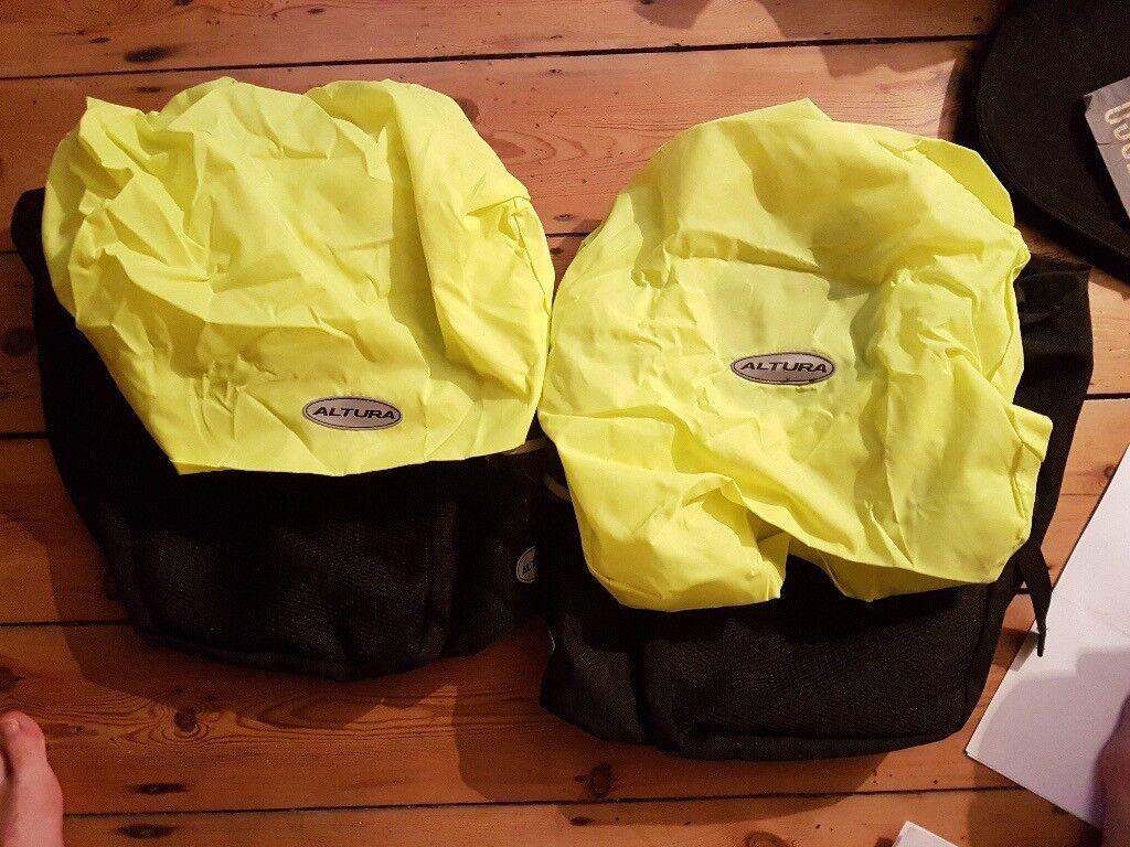 Altura Bike Paniers with HiViz waterproof cover