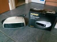 Flat fan heater