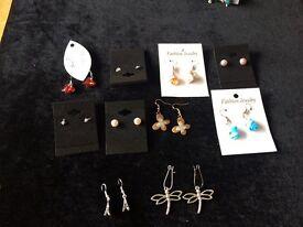 10 pairs of earrings