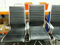 Faux leather office chairs x 3 £20 each