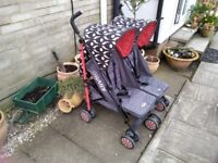 Double buggy/pushchair