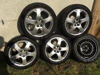 """17"""" Volkswagen alloy wheels an tyres"""