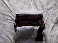 Topman Chocolate Suede Men's shoes, size 10, unworn, boxed.