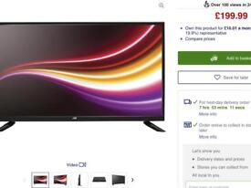 JVC 32 inch LED TV with remote and instructions Retails £199