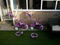Little Tikes 4 in 1 trikes in purple - x 2 for sale. WILL SELL INDIVUDUALLY