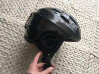 Ski helmet black men's XL