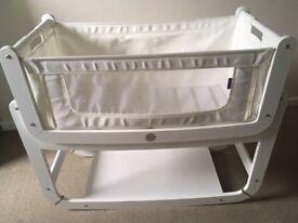 SnuzPod2 Bedside Crib 3 in 1 Eco-White