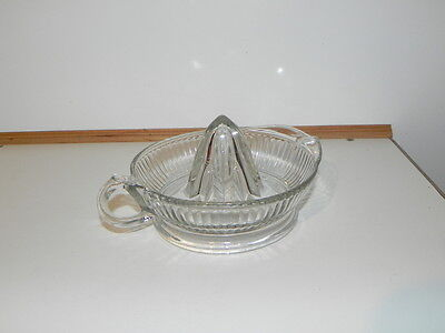 Vintage Glassware Large Glass Juicer