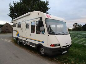 Euramobil 680 HB 6 berth motorhome with rear fixed bed for sale