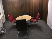TWO GOOD SIZE OFFICE ROOMS TO RENT , NEAR ILFORD STATION, ATTACHED TOILET, MEETING ROOM FACILITY .