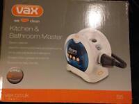 VAX KITCHEN & BATHROOM MASTER STEAM CLEANER NEW IN NOX