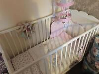 BRAND NEW IKEA COT WITH MATTRESS AND BEDDING