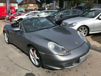 2004/04 PORSCHE BOXSTER 3.2S METALLIC GREY/BLACK LEATHER, UPGRADED ALLOYS,SERVICE HISTORY