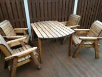 Solid wood garden set