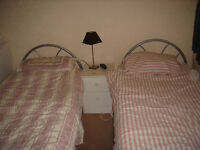 2girls wanted to share alarge twin room
