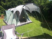 Outwell Montana 4 tent plus canopy