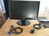 "19"" LG PC Monitor, please see below for full description"