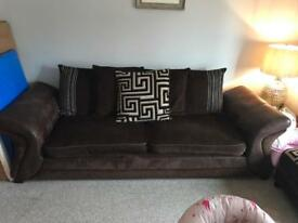 Sofa and cuddle chair from DFS