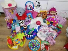 Large bundle of toys