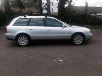 2001 Audi A4 1.9 tdi avant diesel estate silver 12 MONTHS MOT FSH 2 keys