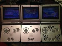 Gameboy advance sp with games and extras