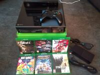 Xbox one black 500gb with kinect sensor and 6 games all boxed vgc sell or swap