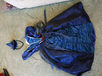 blue princess/witch dress with hat age 5-6