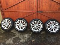 """BMW F10 MODEL 17"""" ALLOY WHEELS WITH TYRES 225/55/17 ALL MOST MINT CONDITION"""