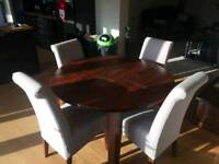 1x dining table 4x chairs 2x coffee table