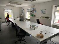Eight person bench desk 6.4m x 1.6m