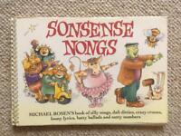 Sonsense Nongs. Music Song Book by Michael Rosen