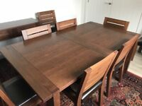 Marks and Spencer Sonoma Dark Oak Extended Dining Table, 8 Chairs, Console Table and Sideboard
