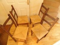 Ikea Seagrass Chairs x 4