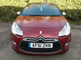 CITROEN DS3 1.4 HDI D SPORT 3 DR S/HISTORY CHEAP TAX 20 PER YEAR WARRANTY AND FINANCE AVAILABLE